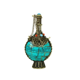 Antique Tibetan Turquoise Snuff Bottle For Sale