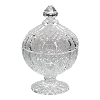 Crystal Pedestal Dish With Lid