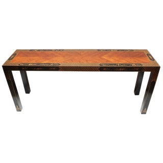 1980s Chinoiserie Console Table For Sale