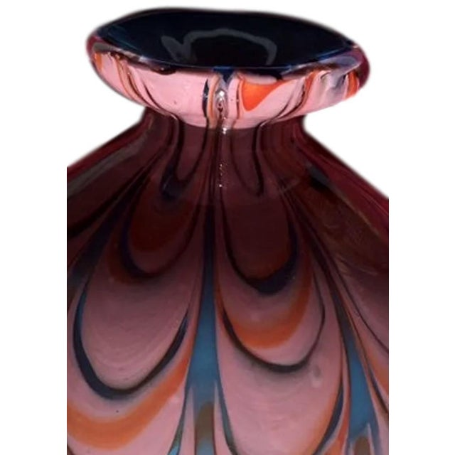 Murano Late 20th Century Hand Blown Murano Style Eclectic Glass Art Vase For Sale - Image 4 of 8