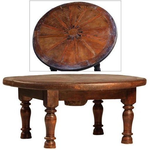 Old Wheel Coffee Table - Image 2 of 2