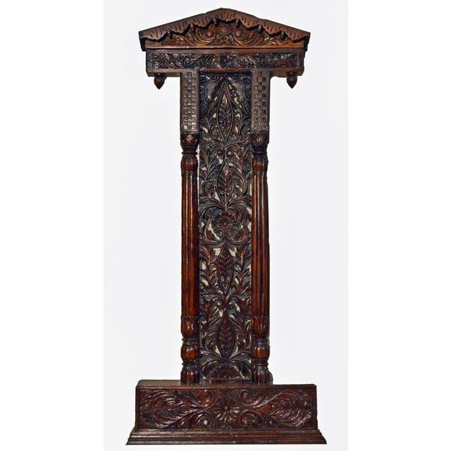 Jali Flower Wooden Carved Royal Swing Set For Sale - Image 4 of 4