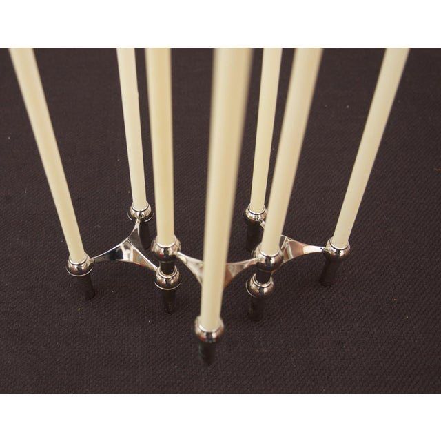 Brass candle holder by Fritz Nagel & Ceasar Stoffi for BMF, 1962 - set of 3 For Sale - Image 6 of 11