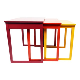 Paul Frankl Style Nesting Tables - Set of 3
