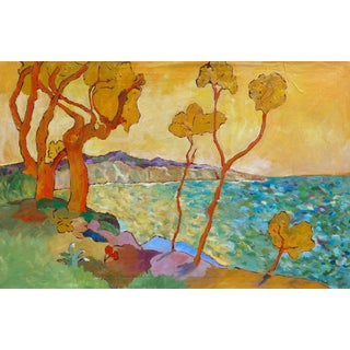 """Santa Barbara Hills"" - Large Oil Painting by Martha Holden For Sale"