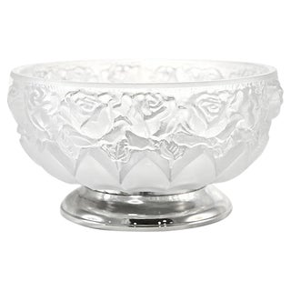Italian Crystal Centerpiece Bowl For Sale