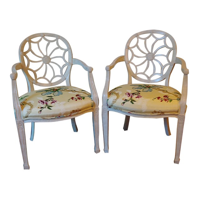 Custom Wheel Back Chairs - a Pair For Sale