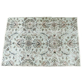 Turkish Over-Dyed Mint Wool Rug - 3′ x 2′