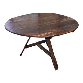1920s Rustic Wine Tasting Table For Sale