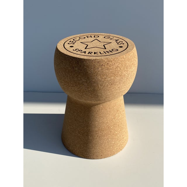 Mid-Century Modern Champagne Cork Stool/Side Table For Sale - Image 3 of 13
