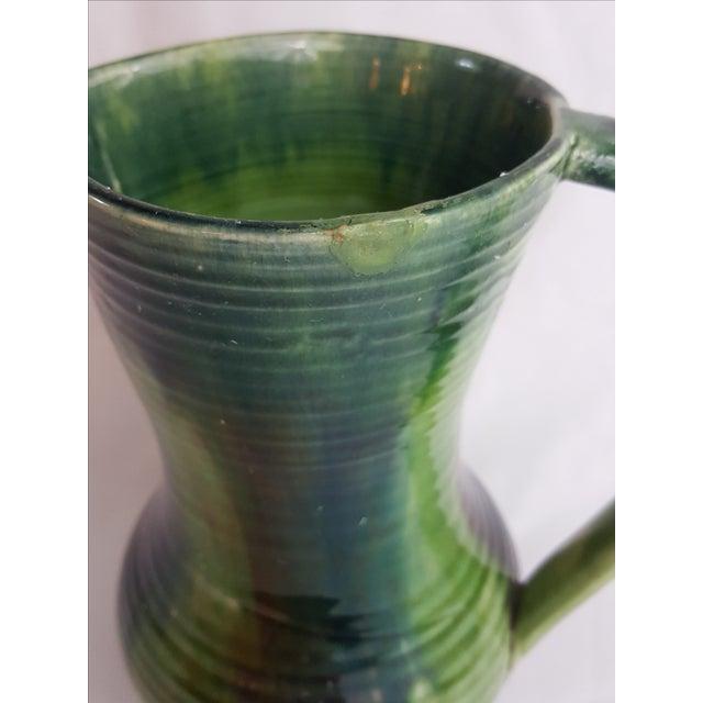 Green Belgian Art Pottery Jug For Sale - Image 4 of 4