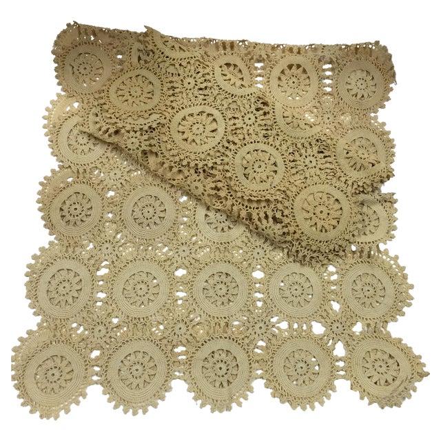 Vintage Handmade Crocheted Runners - A Pair - Image 1 of 6