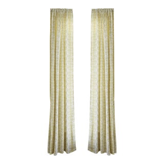 """Pepper Emma Chartreuse 50"""" x 108"""" Curtains - 2 Panels For Sale"""