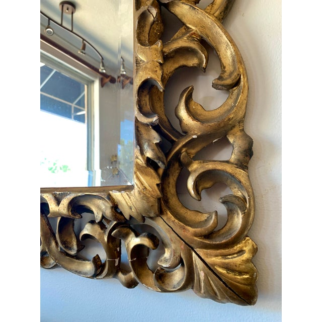 Antique Italian Gold Framed Mirror For Sale In Kansas City - Image 6 of 7