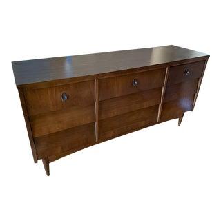 Mid Century Modern 9 Drawer Long Low Dresser For Sale