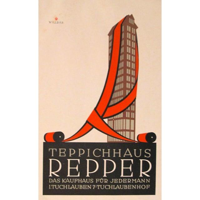 1923 German Design Poster, Repper Carpets - Image 1 of 3