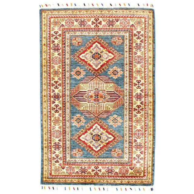 "2010s Pasargad N Y Super Kazak Lamb's Wool Rug - 3'2"" X 5' For Sale - Image 5 of 5"