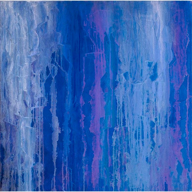 2010s Iris Field, Contemporary Abstract Painting by Teodora Guererra, Oil on Canvas, 2013 For Sale - Image 5 of 6