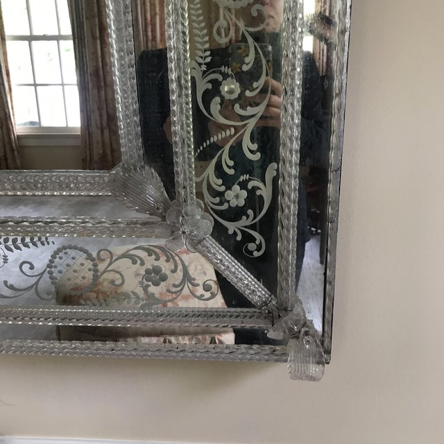 Traditional 20th Century Venetian Glass Mirror For Sale - Image 3 of 7