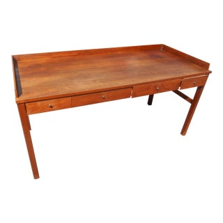 1960s Mid-Century Modern Walnut Library Table/Writing Desk For Sale