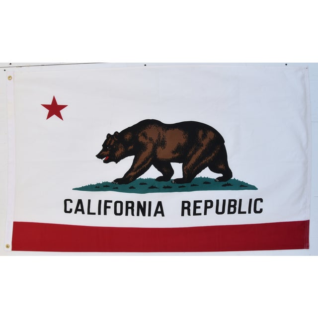 Large Vintage California Republic State Bear Flag For Sale In Los Angeles - Image 6 of 10
