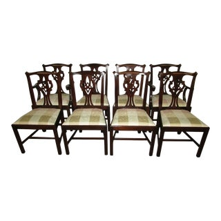 Henkel Harris Model 101 Finish 29 Solid Mahogany Dining Chairs - Set of 8 For Sale