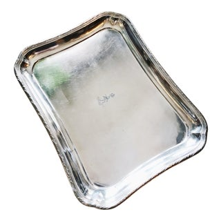Christofle Silver Serving Tray From Hotel Edouard VII Paris For Sale