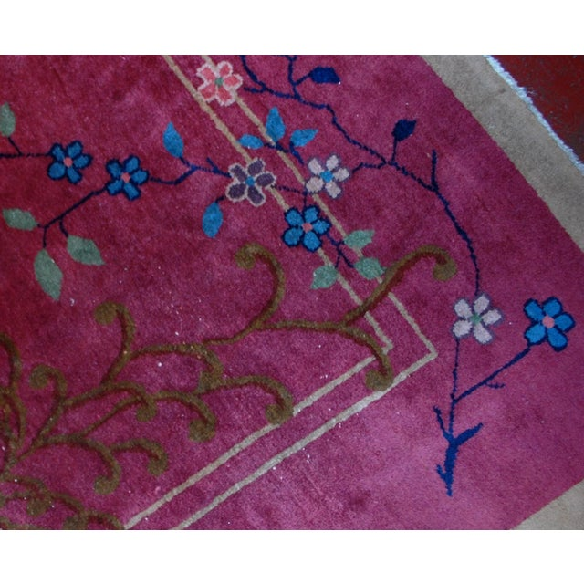 1920s Antique Art Deco Chinese Rug - 8′10″ × 11′8″ - Image 6 of 8