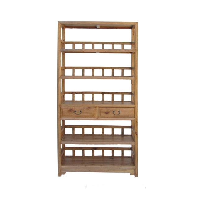 Chinese Camphor Wood Simple Display Curio Bookcase - Image 1 of 5