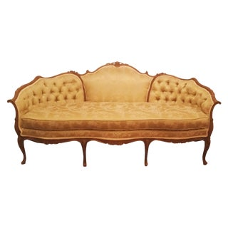 1940's Silk Settee Sofa For Sale