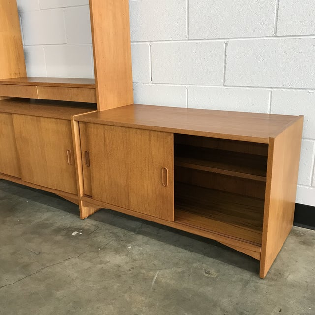 1970s Danish Modern Freestanding Wall Unit For Sale - Image 5 of 11