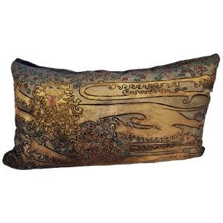 Normandy Lions Silk Velvet Pillow For Sale