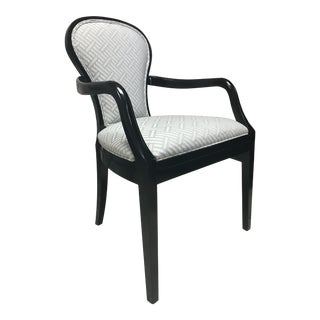 Henredon Furniture Celerie Kemble Bettina Dining Arm Chair in Pitch Finish For Sale