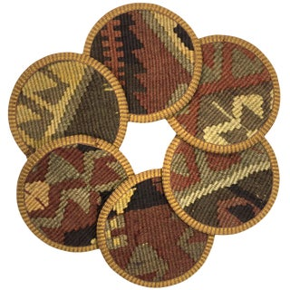Kilim Coasters Set of 6 | Aynacılar For Sale