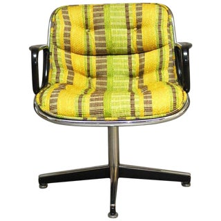 Mid-Century Plaid Executive Chair by Charles Pollock for Knoll