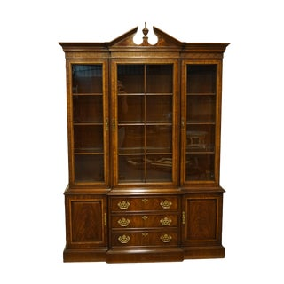 Drexel Heritage 18th Century Collection Mahogany China Cabinet For Sale