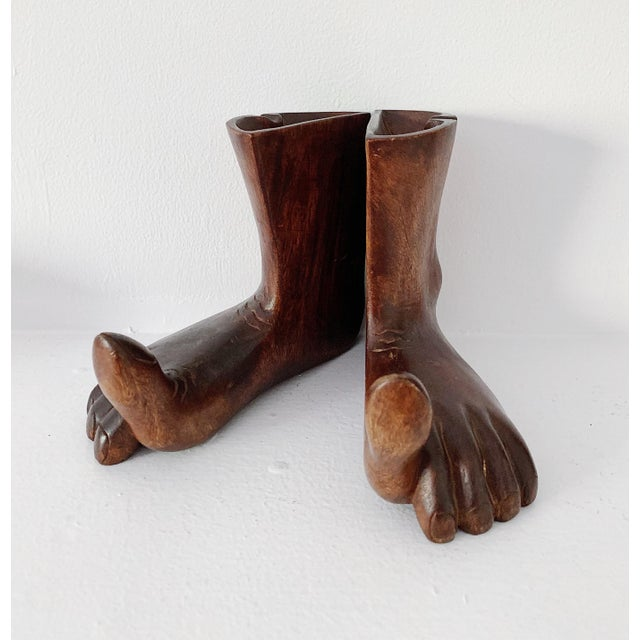 Vintage hand carved wooden feet sculpture in excellent condition. The sculpture was made in the 1960s. Reasonable offer...