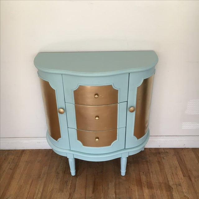 Demilune Console Table or Storage Cabinet - Image 3 of 9