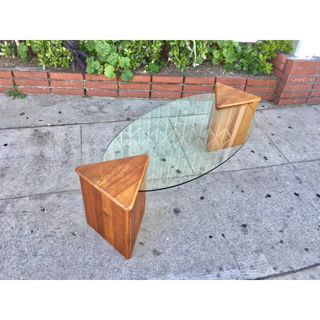 Oval Glass Top Coffee Table - Image 6 of 7