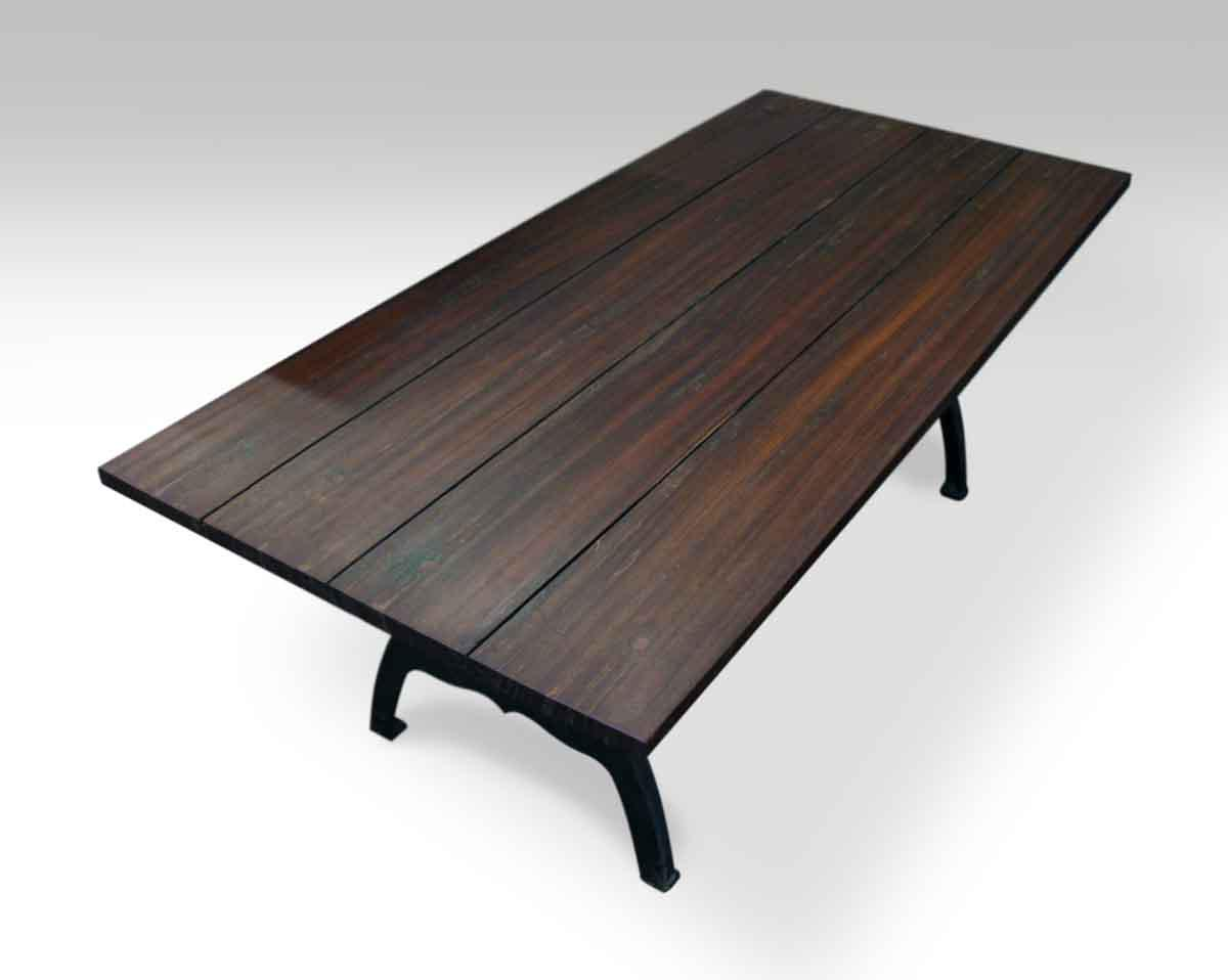 South Street Seaport Ipe Table With NYC Industrial Legs For Sale   Image 6  Of 6