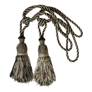Silk Tassel Curtain Tiebacks - a Pair For Sale