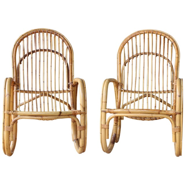 Pair of Bamboo Armchairs in the Style of Franco Albini, 1960s, Italy For Sale - Image 11 of 11
