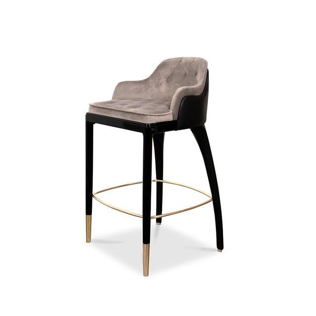Modern Covet Paris Modern Charla Bar Chair For Sale - Image 3 of 7