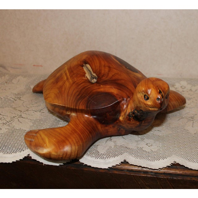 This Sculpted Don & Gis Rutledge Chainsaw Carved Turtle is gently used and in very good condition. Turtle measures...