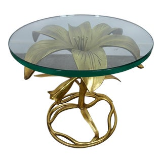 1960s Hollywood Regency Drexel Lilly Side Table For Sale