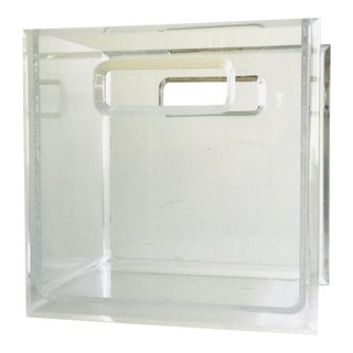Lucite Magazine Holder 1970s For Sale