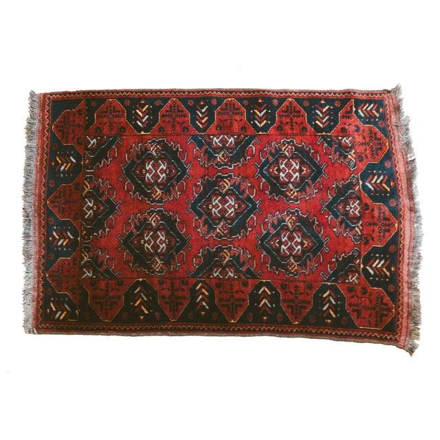 Vintage Persian Carpet Rug - 3′12″ × 6′2″ For Sale - Image 9 of 9