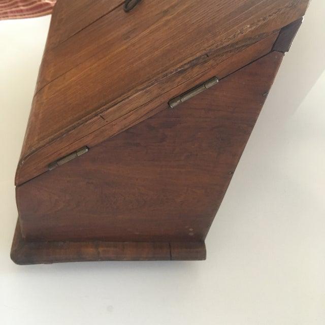 1950s Vintage Rustic Wooden Desktop Cabinet Storage Organizer For Sale - Image 5 of 13
