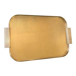 Mid-Century English Gold Metal Bar Tray