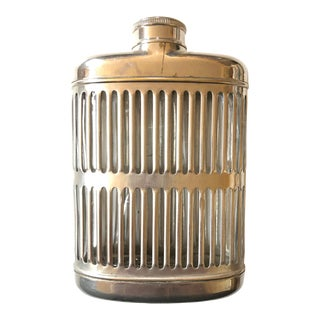 Silver Metal Hip Flask For Sale